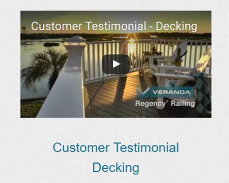 Customer Testimonial - Fiberon Decking