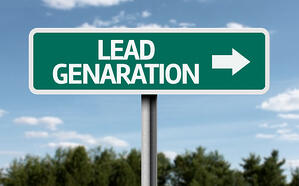 Creative sign with the text - Lead Generation