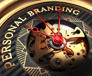 Personal Branding on Black-Golden Watch Face with Closeup View of Watch Mechanism..jpeg