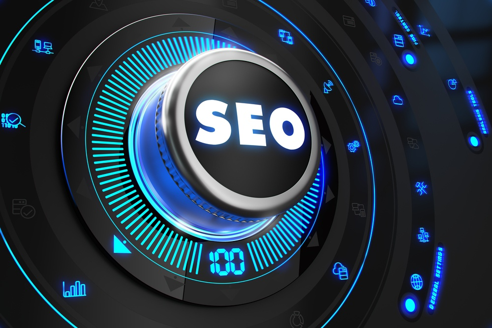 SEO - Search Technology Internet- Controller on Black Control Console with Blue Backlight. Improvement, Regulation, Control or Management Concept..jpeg