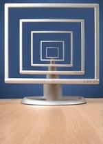 monitor on desk